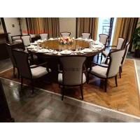 自动实木雕花餐桌 豪华音乐喷泉电动餐桌 手动一体电动餐桌