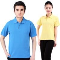 时尚酷帅POLO衫空白现货广告衫供应间色领文化衫定制包印字