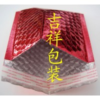 复红色镀铝膜气泡信封袋厂家