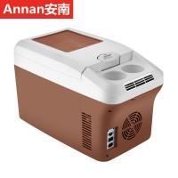 安南15L车家两用迷你型家用宿舍办公室母乳冷藏单门冷暖箱便携