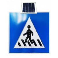 太阳能人行横道标志牌led发光标志牌交通安全标志图片